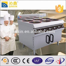 High efficiency Stainless steel free standing mobile kitchen equipment/digital commercial heavy duty kitchen induction cooker
