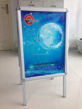 Outdoor wind resistant pavement sign display stand a master a board