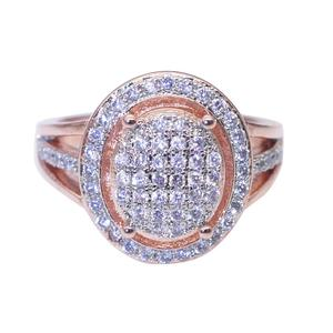 Fashion Promise Finger Ring Rose Gold 925 Silver AAA Round mosaic diamond Engagement Band Rings For Women Bridal Wedding Jewelry