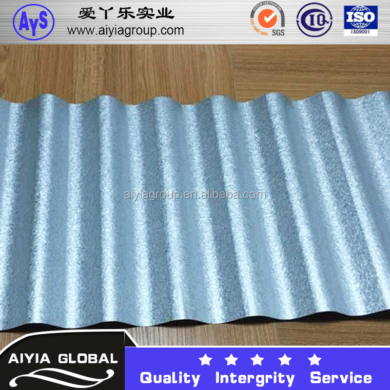 GI steel building materials shanghai corrugated sheet retaining wall