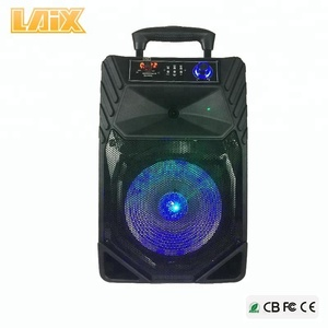 LAIX Top Selling PA Outdoor Bass Speaker for Party with EQ,Color Light and Disco light