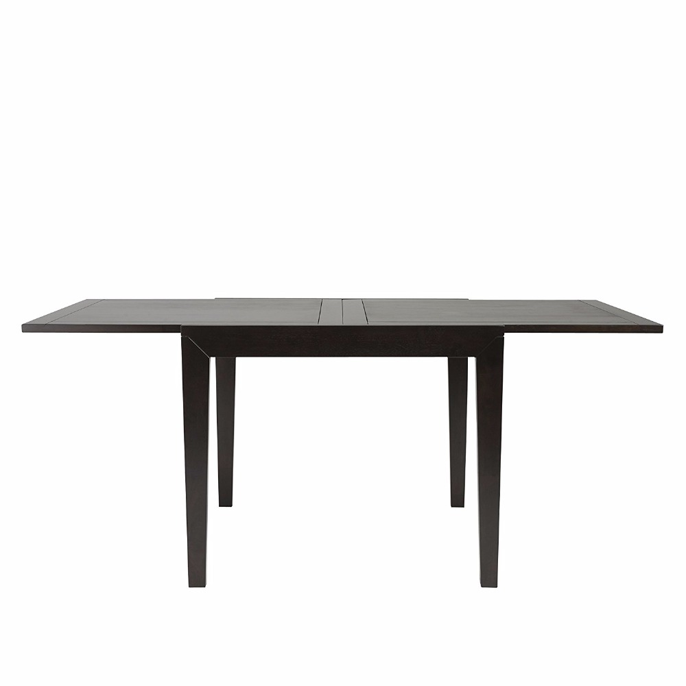Claudius Modern Wood Extension Dining Table, Wenge Finish console dining table