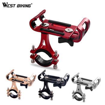 WEST BIKING 3.5-6.5 inch Bicycle Universal Bike Mobile Phone Holder For Bike Phone Mount Bicycle Motorcycle Cell Phone Holders