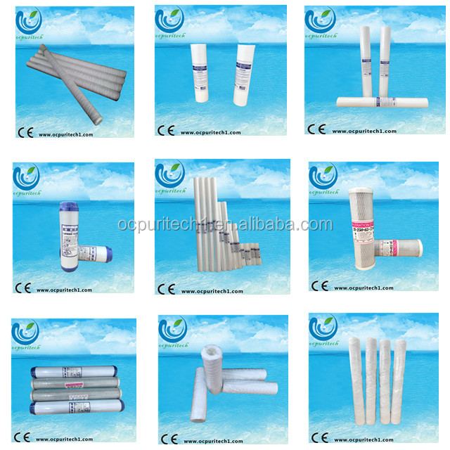 10 inch udf alkaline activated carbon water filter cartridge