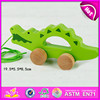 2015 Hot Sale Newest Pull String Toys for kids,children wooden pull line toy,Cheap cartoon animal pull wire walking toy W05B082