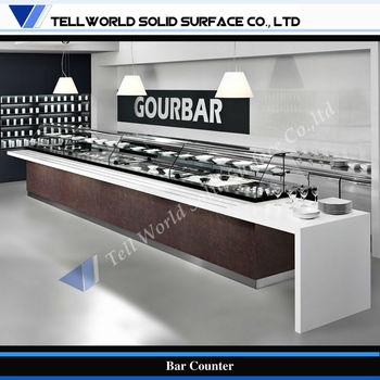 Modern design commercial buffet restaurant self service counter buy restaurant self service for Modern bar counter designs for home