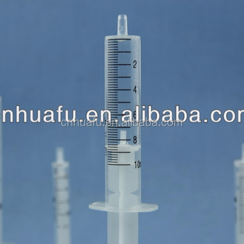high quality cheap disposable syringe of 2 component 2ml