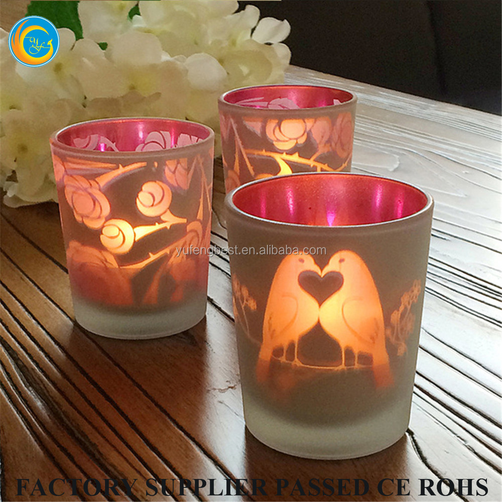 candle jar type and home decoration use glass candle jars