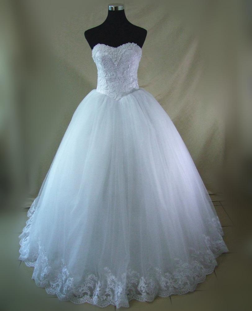 FA97 imágenes reales últimas blanco Bling perlas lujo princesa ...