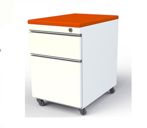 Customized Size Metal 2 Drawer Pedestal With Cushion Under Table Movable File Cabinet