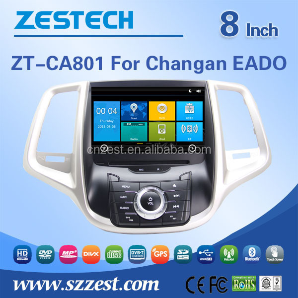 ZESTECH 2 din car dvd for Changan EADO car dvd player with Audio Radio GPS DVD HDMI DVR DVB-T