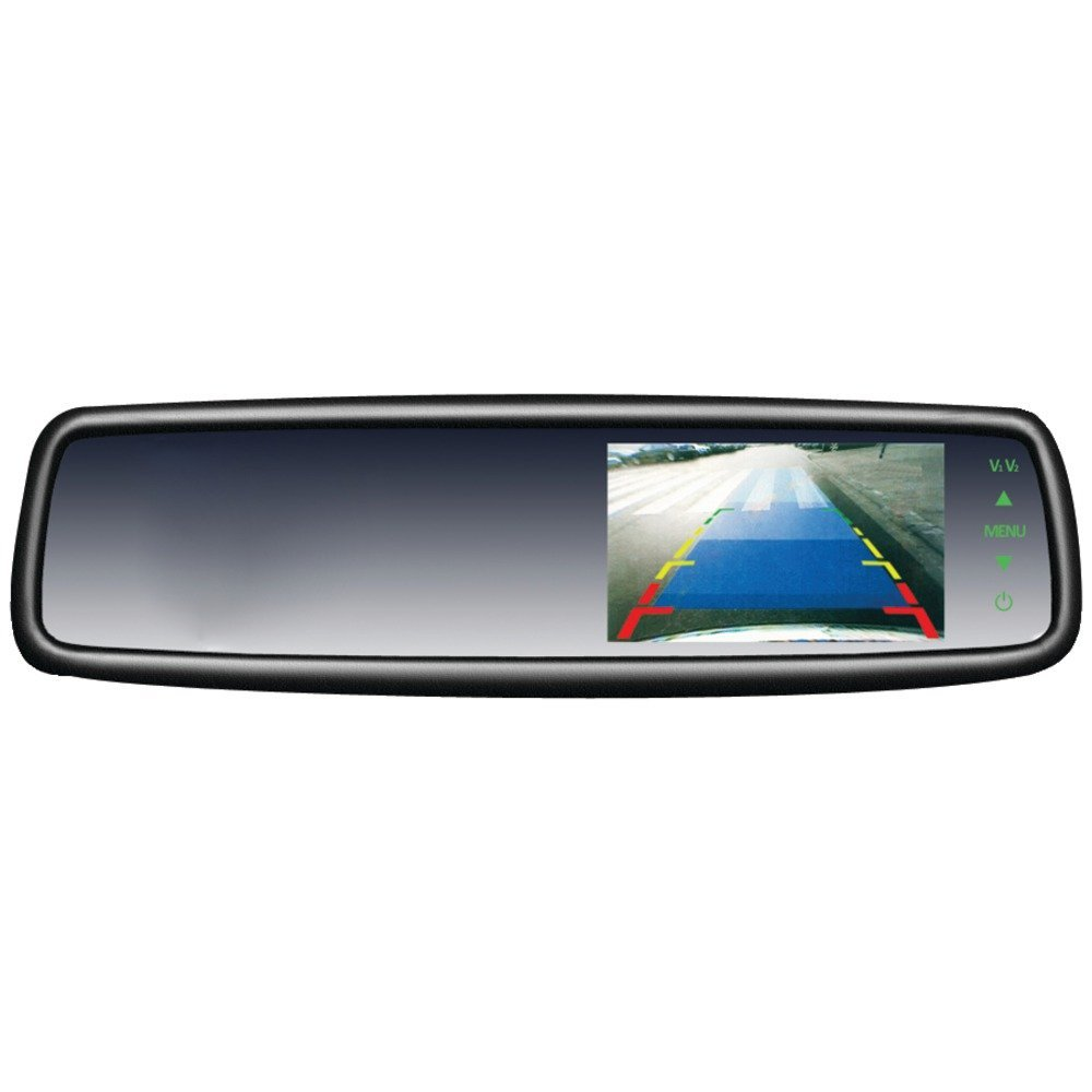"1 - 4.3"" OEM Replacement-Style Rearview Mirror Monitor, Built-in 4.3"" LCD display, Completely replaces the factory mirror but looks factory once installed, SV-9153"