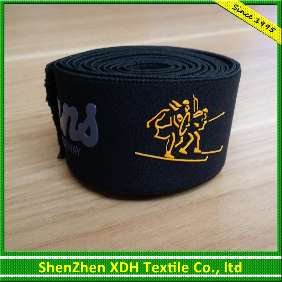 Good quality printed narrow woven polyester elastic webbing