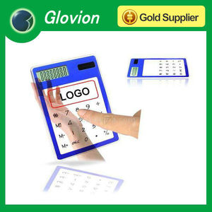 OEM solar powered touch calculator,calculators for promotional gifts,touch screen transparent calculator