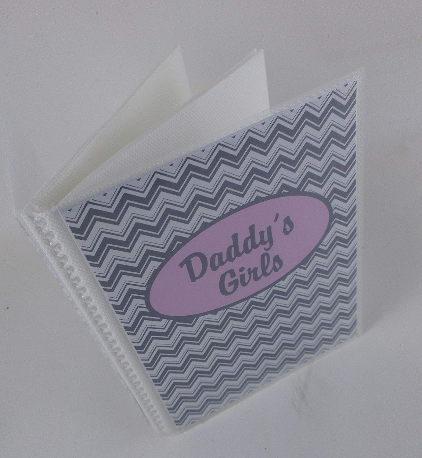 c7043e54e3fa5 Get Quotations · Personalized Baby Photo Album . Gray and Pink Chevron.  040P . 4x6 or 5x7 pictures