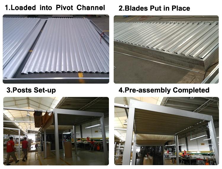 Automatic Aluminum Louvered Pergola Kits Buy Aluminum