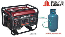 ZHEJIANG LINGBEN SMALL PORTABLE POWER GAS GENERATOR SET WITH CE HOME USE GOOD QUALITY