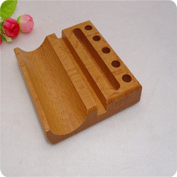 Wood Pen Holder Desk Accessories Pen Stand Name Card Holder beech Wood Stable Pencil Holder Pen Pots