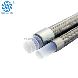 12mm inside diameter stainless steel wire braided Teflon PTFE hose assembly