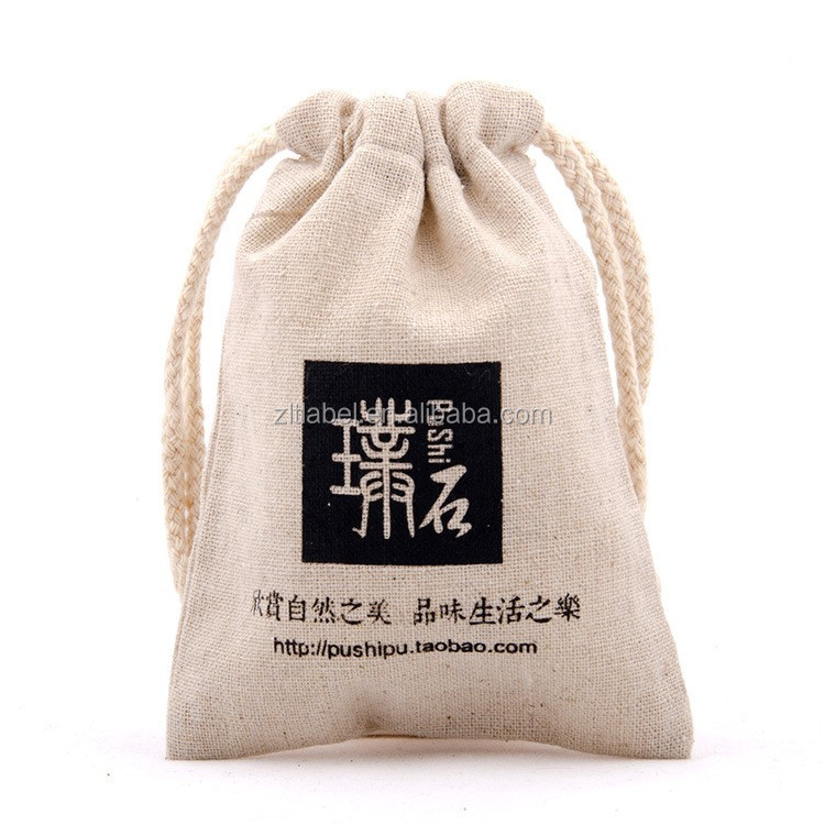 Custom Small cotton Gift Bags For Jewelry <strong>Packing</strong>, Promotion Cotton Drawstring Bags Logo