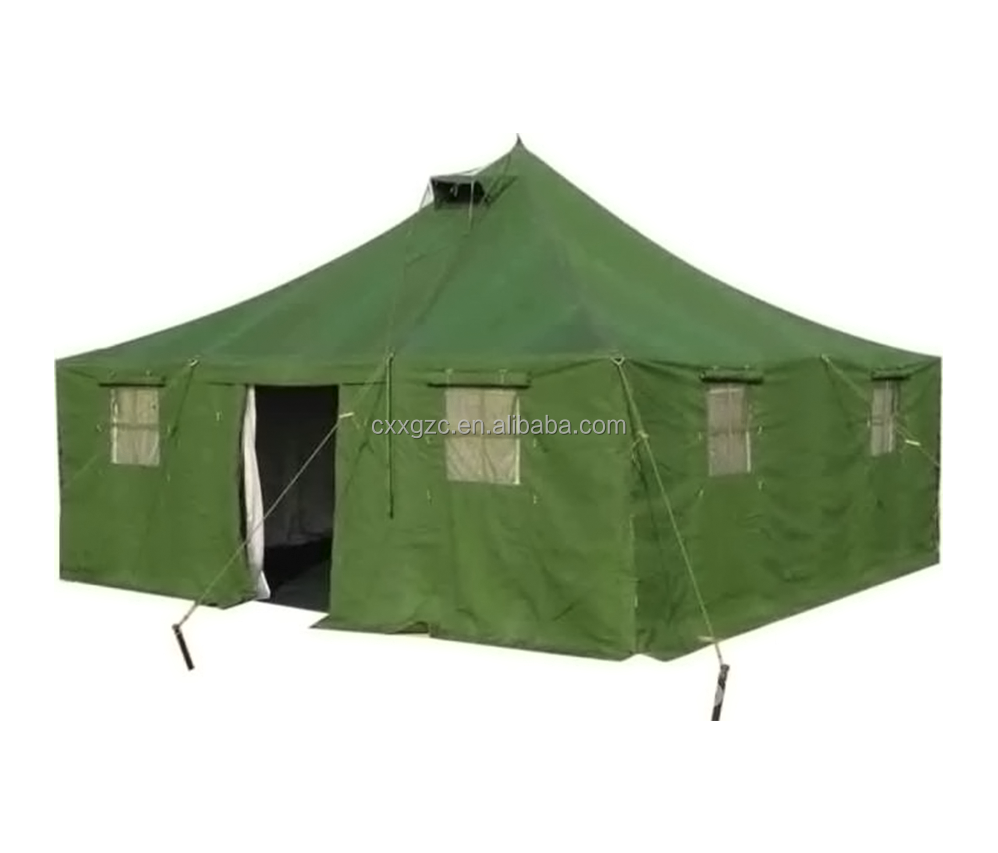 Waterproof 20 person olive green military canvas roof top tent фото