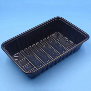 Customized Plastic Black PP Microwaveable Blister Food Tray