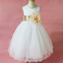 Flower Girl Petals Dress Children Bridesmaid Toddler Elegant Dress Pageant Wedding Bridal Dress