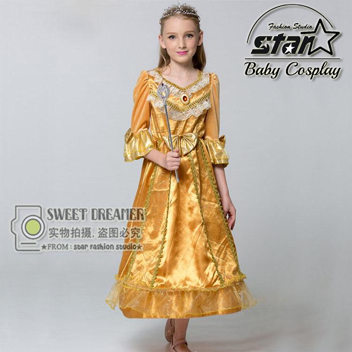 Beauty and Beast Cosplay Princess Belle Girls font b Fancy b font font b Dress b