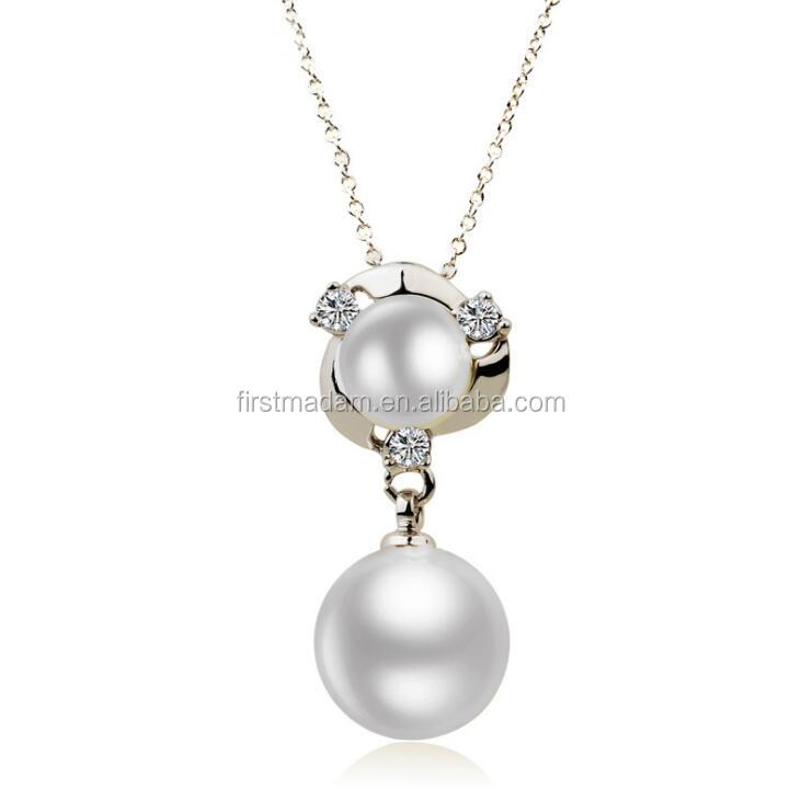 Women's Sterling Silver Pearl Design Necklace Pendant Jewelry