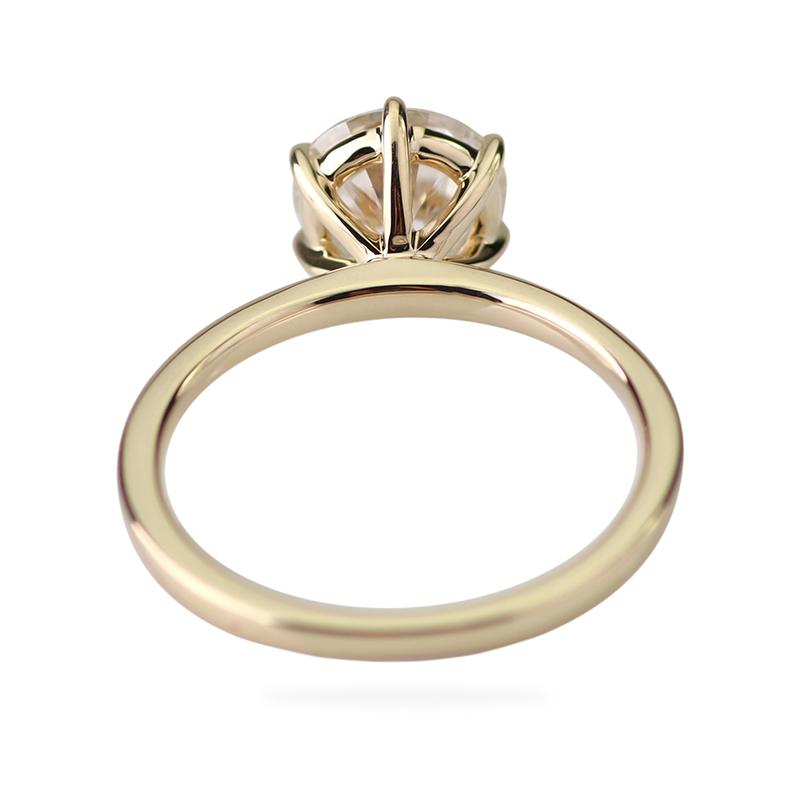 Таможня 14k твердого желтого золота 1,5 карат 7,5 мм круглый GH цвет Муассанит лаборатории обручальное кольцо с бриллиантом