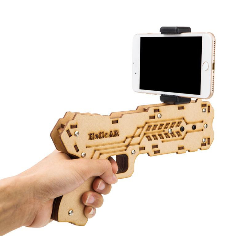 hola ar ar porttil pistola de los juegos de realidad aumentada telfono inteligente soporte de juegos