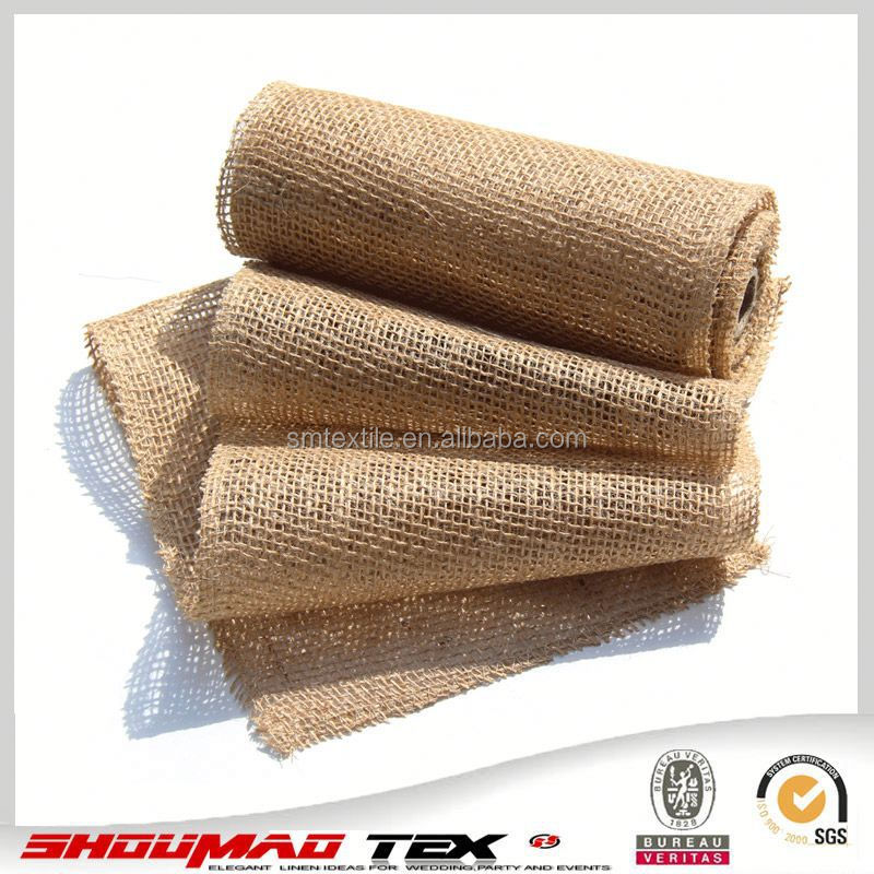 Wholesale natural linen burlap fabric