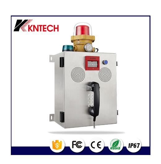 KNTECH industrial fire alrm telephone KNZD-41 with broadcasting system fire fighting equipment telephone