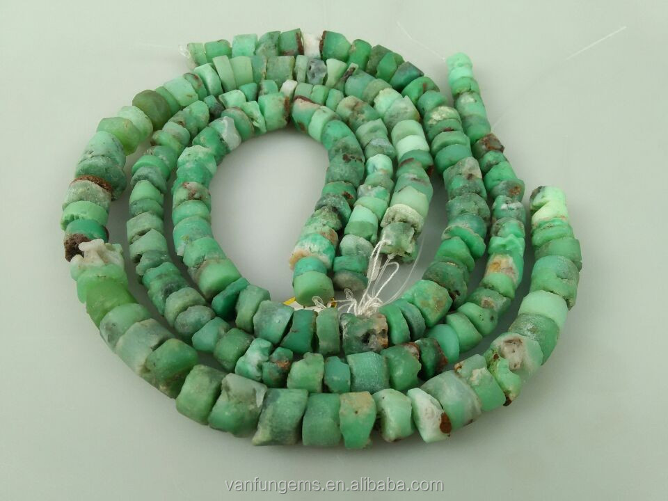natural rough gemstone nuggets Chrysoprase