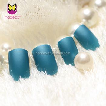 Nadeco New Blue Matte Nail Polish Color Nail Tips Artificial False
