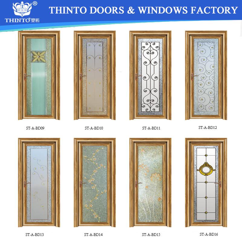 Elegante dise o de aluminio de hardware ba o puerta for Vidrios para puertas principales