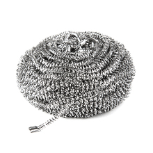 Dish washing stainless steel scrubber balls metal wire pot utensils kitchen scrubber