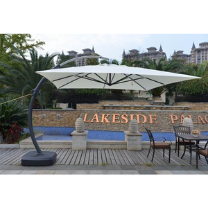 3.5m Garden Parasol Heavy Duty Large Outdoor Hanging Umbrella