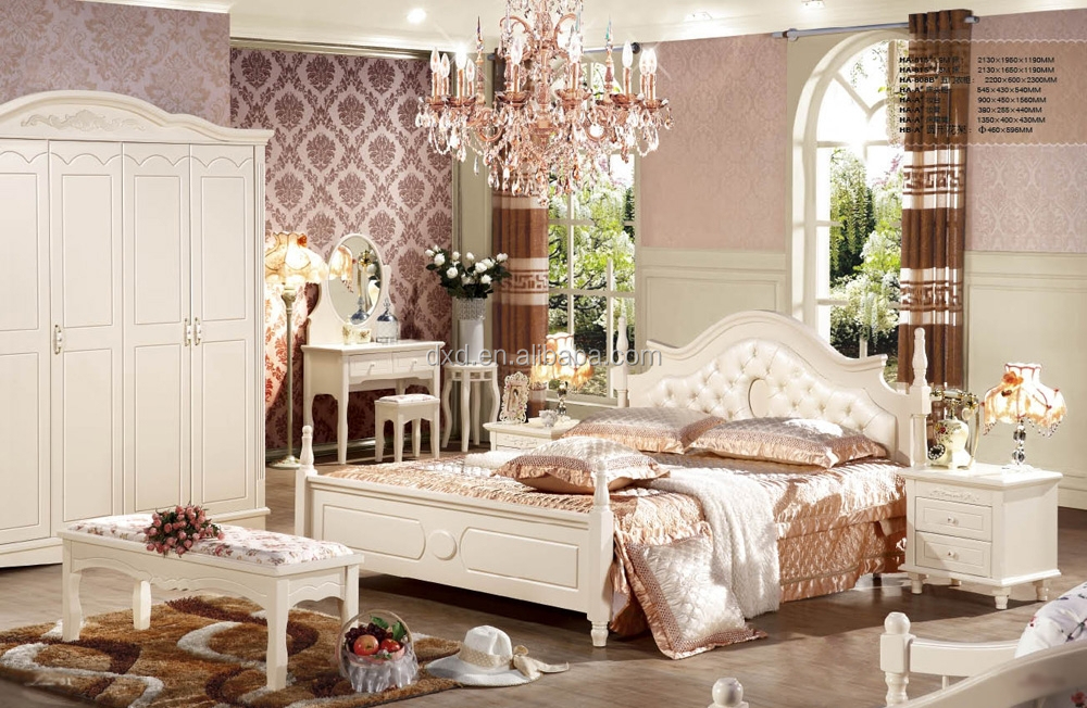 Europe style Solid wood bed design,antique solid wood bed