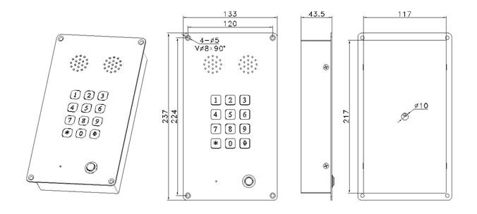 keyboard equipped telephone with loudspeaker speed dial auto-dial loud speaking