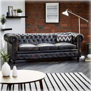 Black Leather Chesterfield Sofa, Black Leather Chesterfield ...