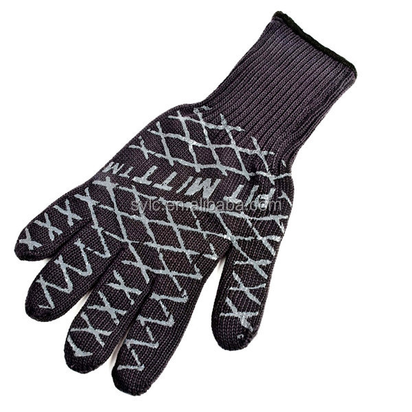 Customized silicone oven and heat resistant gloves protection against cut and industrial gloves.