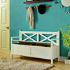 Indoor wooden durable shoe storage bench with cabinet design