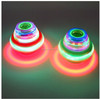 Colorful flashing music peg-top gyro toy with rotation for kids