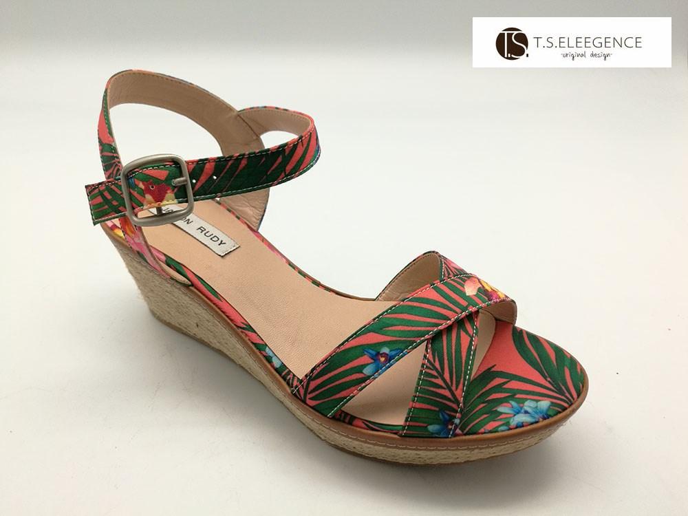57b9544e9cc ladies wedge espadrille heels sandals jute sole ankle tie floral  espadrilles wedges women