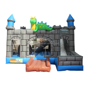 children indoor castle slide inflatable bouncer slide for sale