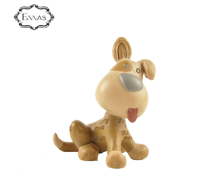 Eco-friendly garden home decoration 3d resin dog statues