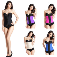 Hot Body Shaper Corset 100% Latex Corset Waist Trainer 9 steel bone waist trainer Women Shapewear Slimming Belt