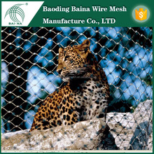 Factory direct supply flexible protection 304 stainless steel wire rope mesh for zoo animal bird cage