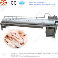 Direct Factory Price Chicken Paws Peeling Processing Plant Chicken Feet Skin Peeling Machine